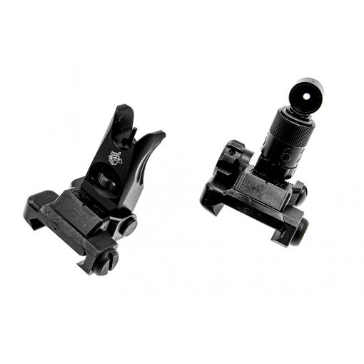 Alpha KAC Licensed Steel Folding Micro Ironsight Set ( Front & Rear ) ( BK )