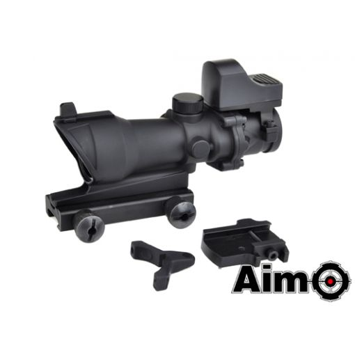 AIM-O ACOG 4x32 Scope with Mini Red Dot ( BK )