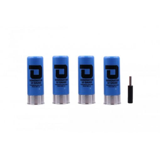 DOMINATOR™ 12 Gauge Gas Shotgun Shell Pack - Blue ( 4 Shells / Pack ) ( DM870 )