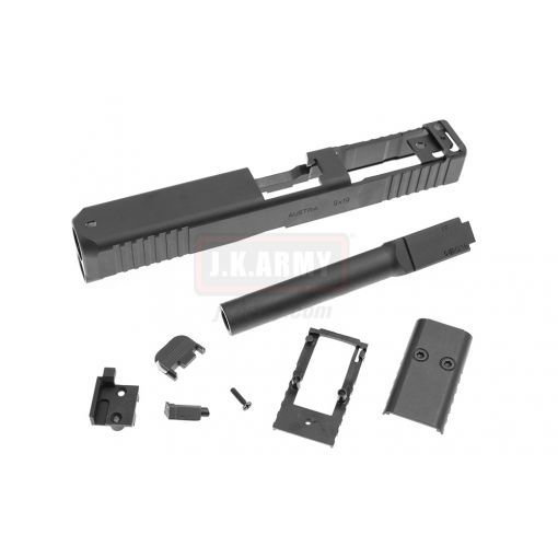 Bomber CNC Steel Model 17 MOS Slide Kit for Umarex / VFC G17 Gen5 GBB Series Limited ( Black )