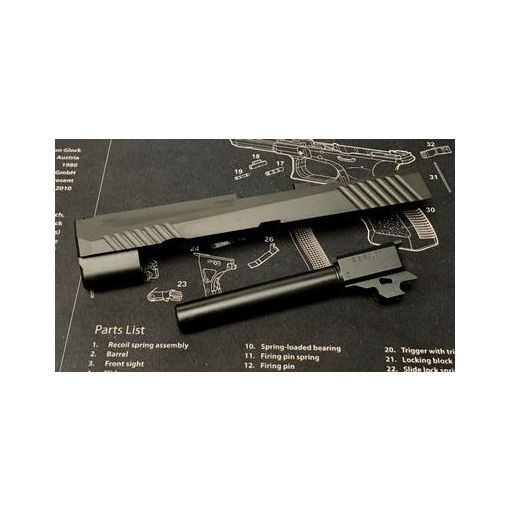 Bomber CNC Steel P320 M17 Slide Kit for SIG / VFC M17 GBB series ( BK ) ( Limited Edition )