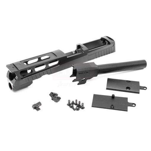 Bomber CNC Aluminum PRO-CUT ( 4.7 inch ) Slide Kit for SIG / VFC P320 M17 GBB Series ( Black )