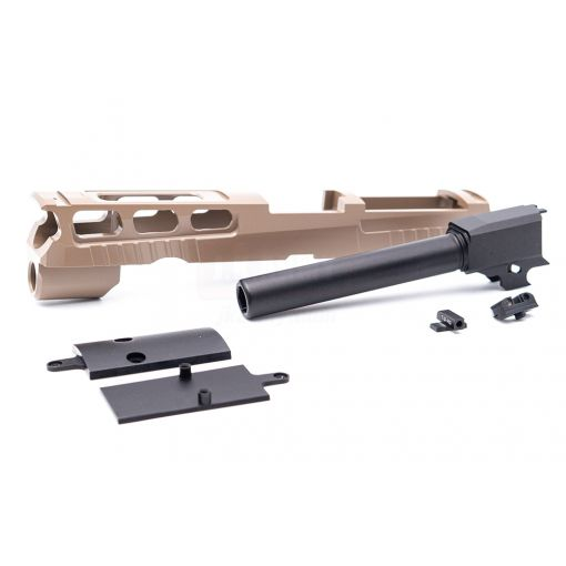 Bomber CNC Aluminum PRO-CUT ( 4.7 inch ) Slide Kit for SIG / VFC P320 M17 GBB Series ( Cerakote Tan )