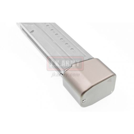Bomber CNC Aluminum T-style ( Long ) Magazine Pad Extension for Marui M&P9 GBB Magazine ( Titanium )