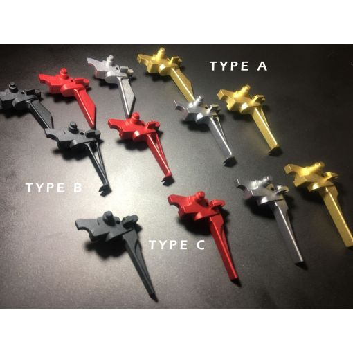 Bow Master 7075 Aluminum Trigger for Systema PTW M4 / AR / 416 ( Type C )