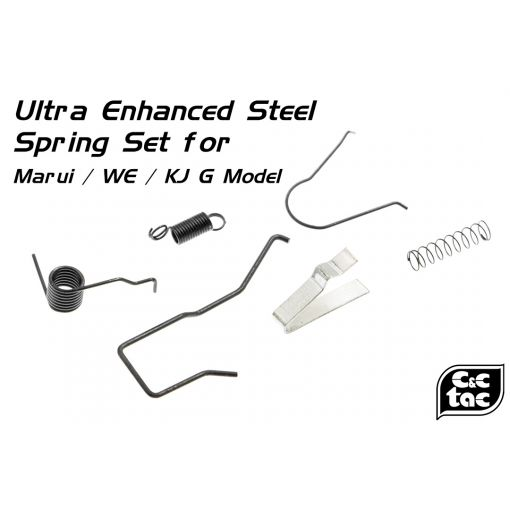 C&C Ultra Enhanced Steel Spring Set for Marui / WE / KJ G Model 17 / 18C / 19 / 22 / 23 / 26 / 34 etc. ( TM / WE / KJ G17 )