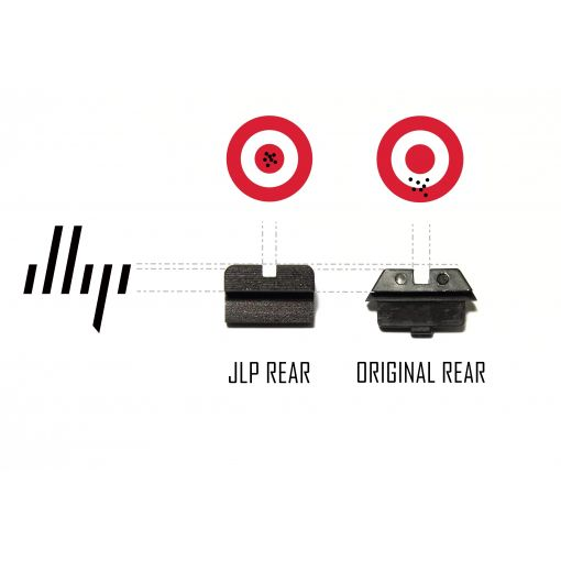 JLP Competition Steel Rear Sight for Tokyo Marui G Model ( Black )