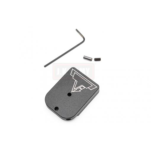 EMG / TTI Combat Master Magazine Base Plate for AW / WE / EMG TTI Hi-Capa Magazine ( With Charging Port / Gas Ver. ) ( Black ) ( AW )