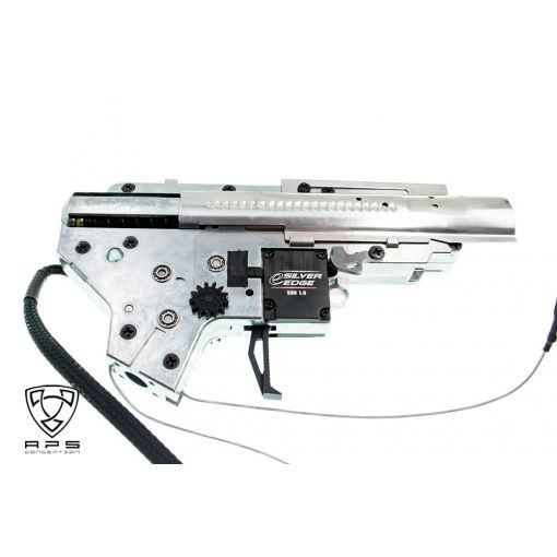 APS Silver Edge Electronic Gearbox Ver.2 For M4 / AR15 AEG ( Rear Wired )