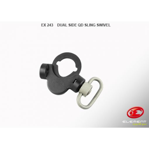 Element Dual Side QD Sling Swivel (Black)