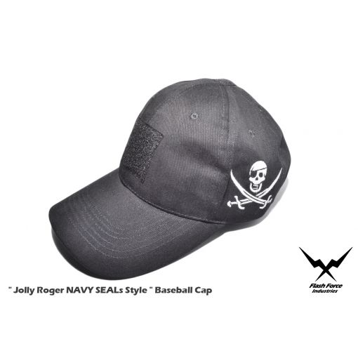 "FFI "" Jolly Roger NAVY SEALs Style "" Baseball Cap ( Black )"
