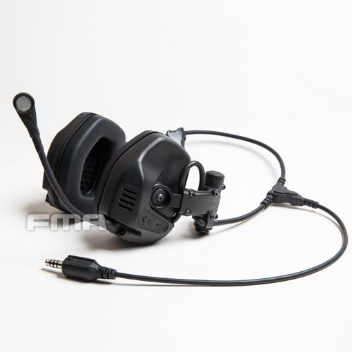 FMA FCS RAC Style Headset / with 6 Pins PTT ( BK )