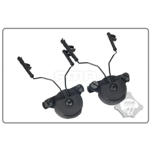 FMA EX Headset and Helmet Rail Adapter Set GEN1 BK