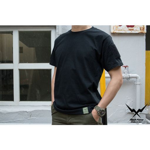 FFI Gecko Tee with Velcro ( Black )