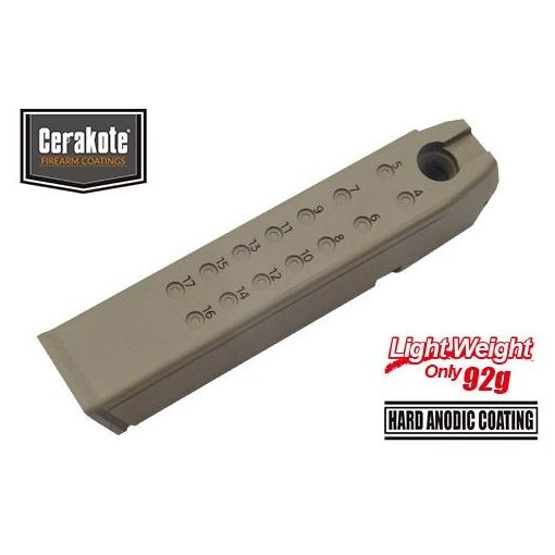 Guarder Aluminum Magazine Case for MARUI Model 17/18C/22/34 (9mm /Cerakote FDE)