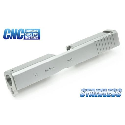 Guarder Steel CNC Slide for MARUI Model 19 ( Metallic Silver )