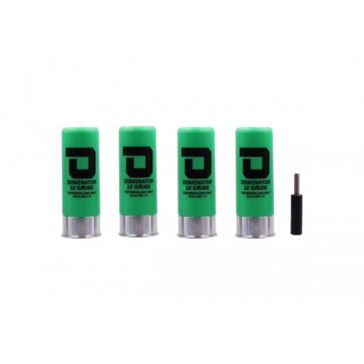 DOMINATOR™ 12 Gauge Gas Shotgun Shell Pack - Green ( 4 Shells / Pack ) ( DM870 )