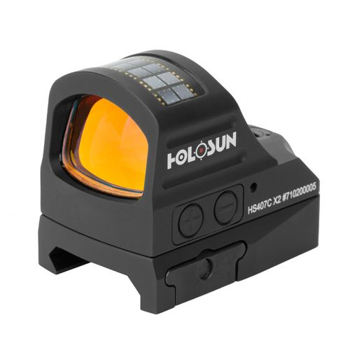 HOLOSUN HS407C X2 Reflex Red Dot 2 MOA Sight ( Black )