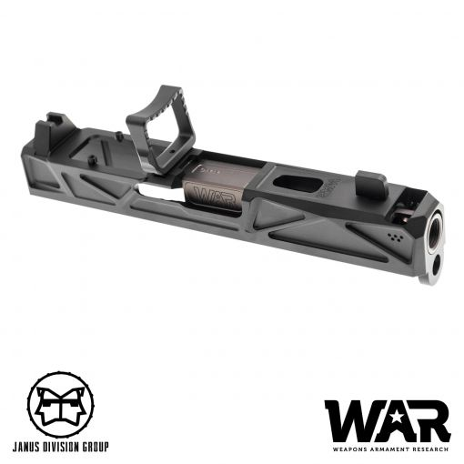 JDG WAR Afterburner RMR Slide Set for UMAREX Glock 19 Gen3 Airsoft Pistol  ( Licensed by WAR ) ( Black Slide )
