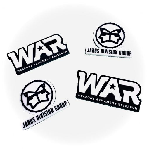 JDG & WAR Souvenir PVC Patch ( Set A )