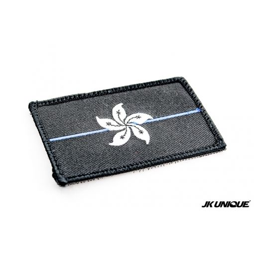 JK UNIQUE Hong Kong Flag Patch ( Black w/ Thin Blue Line )