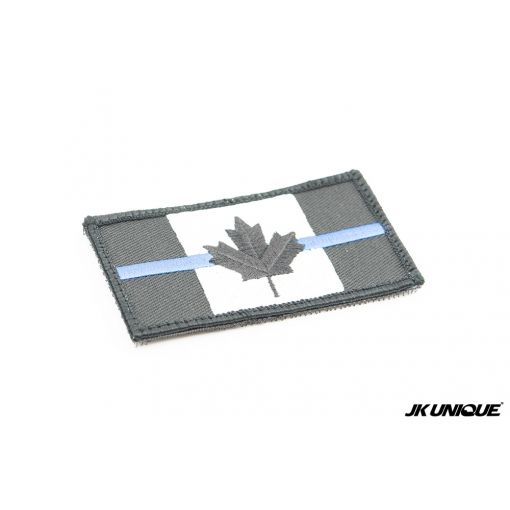 JK UNIQUE Canada Maple Leaf BK The Blue Line Symbol Patch ( Free Shipping )