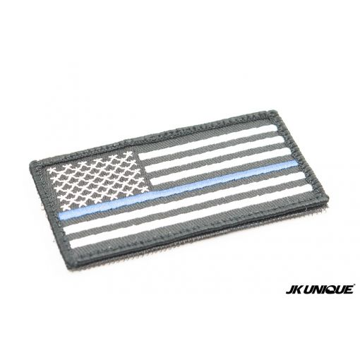 JK UNIQUE US Flag The Blue Line Symbol Patch ( Free Shipping )