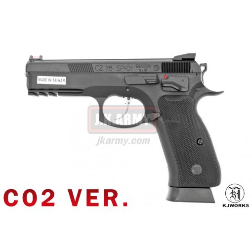 KJ Works CZ 75 SP-01 Shadow GBB Pistol ( ASG Licensed ) - CO2 Version