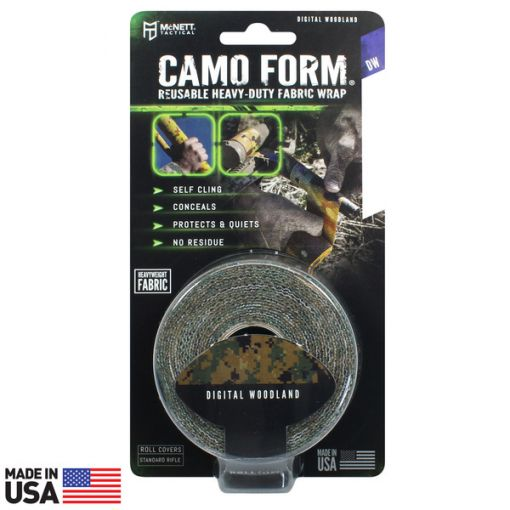 CAMO FORM® REUSABLE HEAVY-DUTY FABRIC WRAP - Woodland Digital ( 19412 )