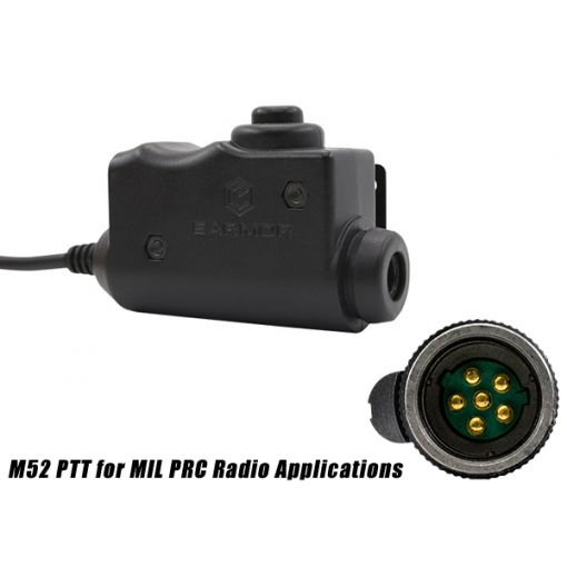 Earmor M52 PTT for MIL PRC Radio Applications ( Radio Connection Type THALES MBITR-URBAN AN/PRC-148(V)2 )