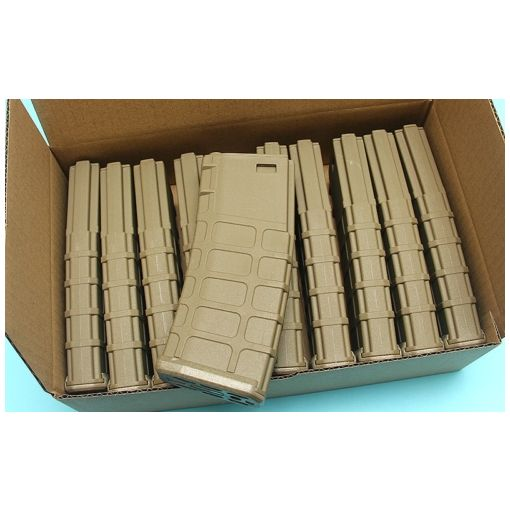 G&P GMAG Mid-cap Magazine For Marui M16 Series AEG (FDE) (10pcs / Pack)