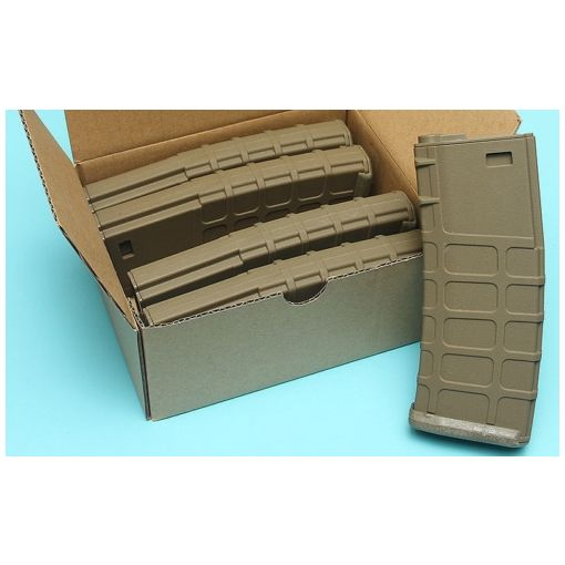 G&P GMAG Hi-cap Magazine For Marui M16 Series AEG ( FDE ) ( 5pcs / Pack )