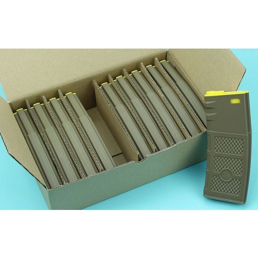 G&P Ball Ball Hi-Cap Magazine ( FDE / Yellow ) ( 10pcs / Pack )