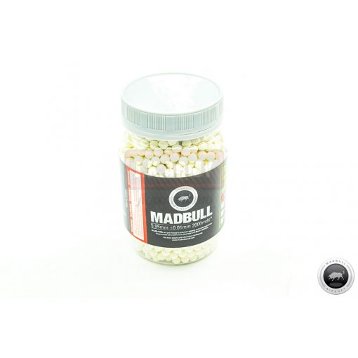 Madbull PLA 0.2g Dark Knight Green 6mm Tracer BB 2000rds ( Bio-degradable )