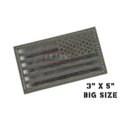 "Infra Red Patch - USA Flag ( Reverse ) ( 3""x5"" Big Size ) ( MG ) ( Free Shipping )"