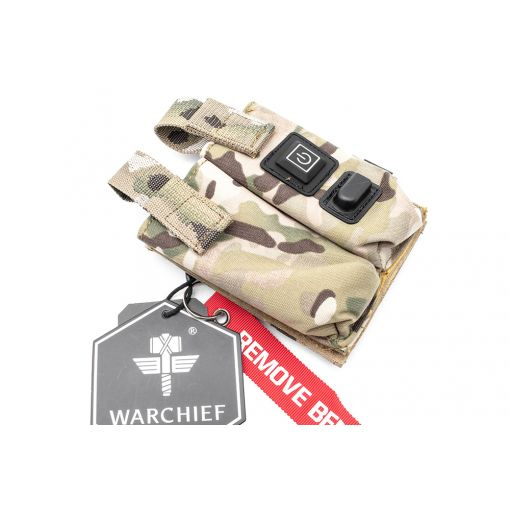 Warchief MF Warmer Preheat Function Double Pistol Magazine Pouch ( MC )