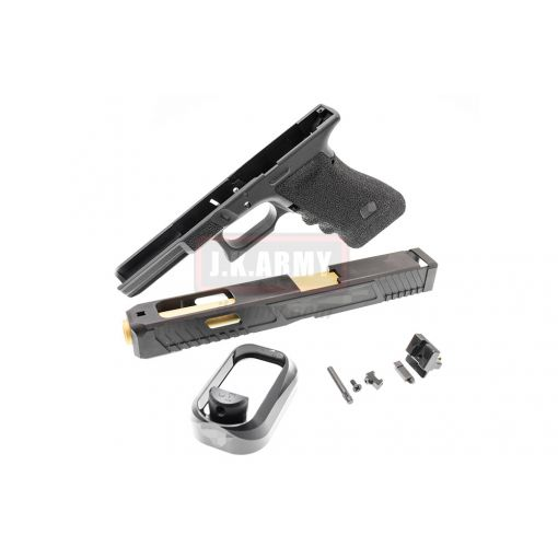 MWC T Style Model 34 JW2 Steel Slide Deluxe Combat Kit Set ( Black - Limited Edition ) ( JOHNWICK Style )