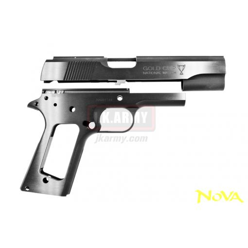 "Nova "" Gold Cup Nation Match "" Aluminum Frame & Slide Kit for Marui Airsoft 1911 Series - Black ( Limited )"