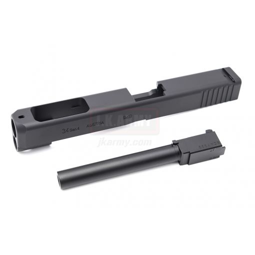 NOVA 34 Gen4 Style Standard CNC Aluminum Slide for TM 17 Gen4 Model GBB Pistol ( Black )