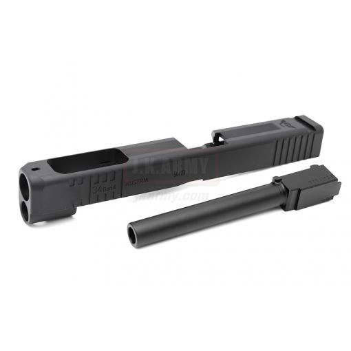 NOVA 34 Gen4 Style W.C CNC Aluminum Slide for TM 17 Gen4 Model GBB Pistol ( Black )
