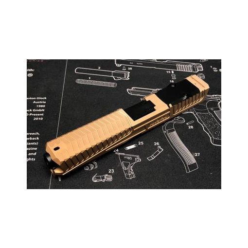 Nova SD-Style CNC Aluminum Slide Set For Marui Model 17 / 22 GBB Series ( Windowless )