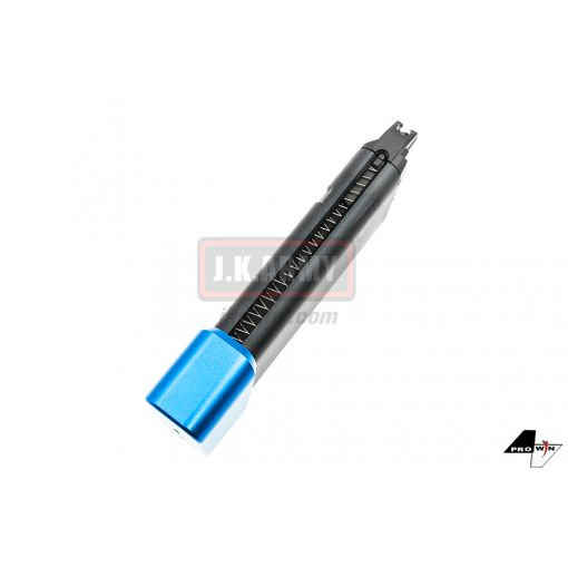 ProWin CNC 36Rds Magazine for Marui G Series GBB G17 G18C G34 etc. ( STD 9mm 17RD+6RD Style ) ( Blue Base )
