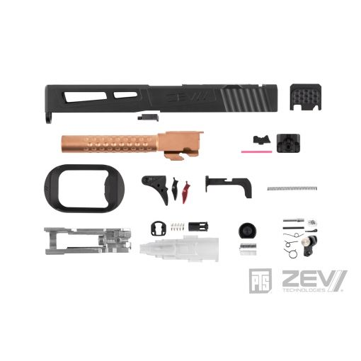 PTS ZEV Prizefighter Slide Kit for TM G Model 17 ( RMR / Leupold DP-PRO Cut )