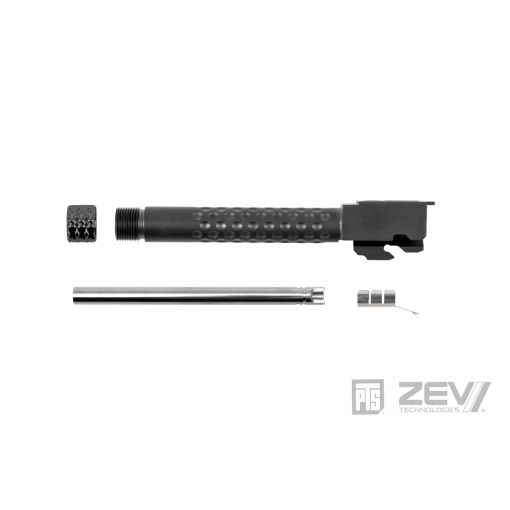PTS ZEV Suppressor Threaded Dimpled Barrel for TM G Model 17 GBB Pistol ( Black / Silver / Bronze )