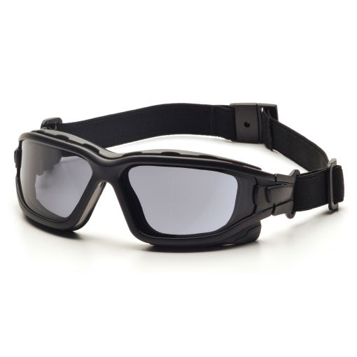 Pyramex I-Force Slim Safety Goggle Gray Dual Anti-Fog Lens with Black Temples/Strap ( SB7020SDNT )