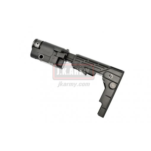 Retractable Folding Butt Stock for M4 / SR16 / SR25 AEG ( Black )