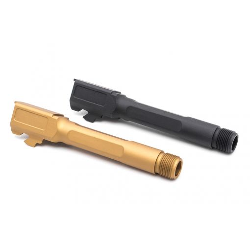 Pro-Arms S Type 14mm CCW Thread Barrel for UMAREX / VFC Glock 19X / Gen4 / G45 ( Black / Ti-Gold )
