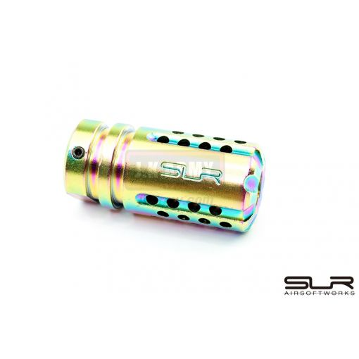 SLR Airsoftworks Synergy Mini Compensator 5.56 ( 14mm CCW ) ( Multi-Tone )