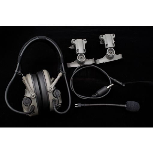 FMA FCS AMP Style Noise Reduction Headset FG w/ MC Stickers Set