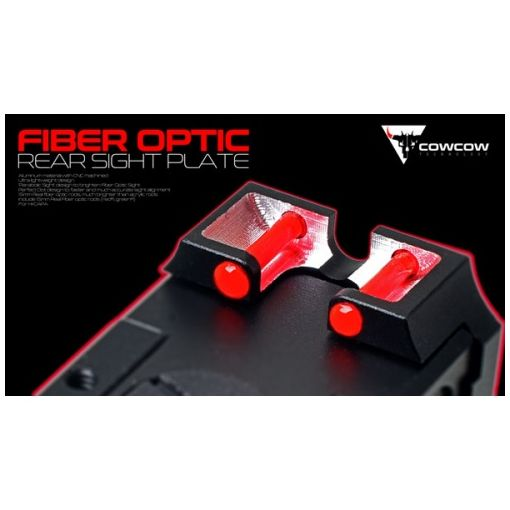 COW Fiber Optic Rear Sight Plate for Marui TM Hi-Capa GBBP Series